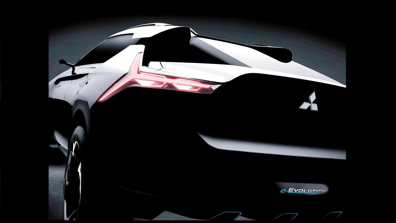Mitsubishi e-Evolution concept teaser (modified)