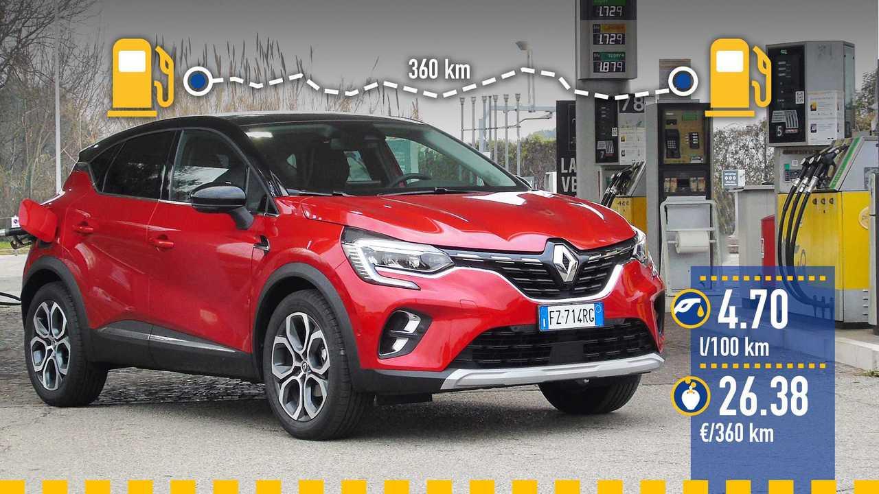 Renault Captur TCe 130 benzina, la prova consumi