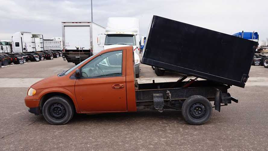 Someone Built A Dodge Caravan Dump Truck And You Can Buy It