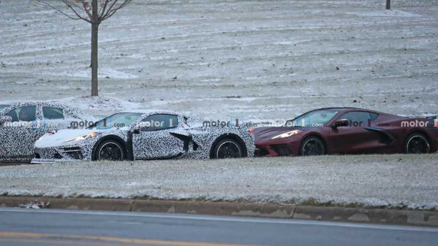 Chevy Corvette plug-in hybrid spy photos
