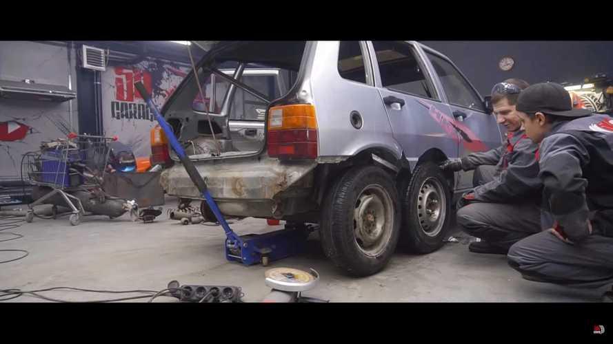Fiat Uno a 8 ruote