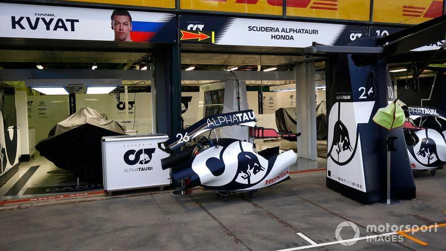AlphaTauri garage at Australian GP 2020