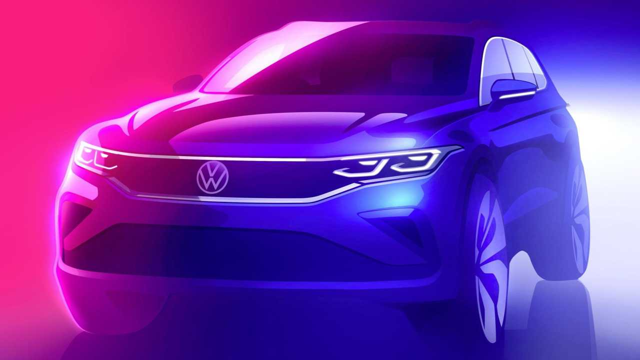 Design sketch: Preview of the new Volkswagen Tiguan