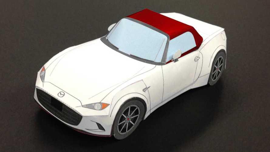 Mazda, sıkılanlar için MX-5 Miata'nın kağıt modelini yaptı