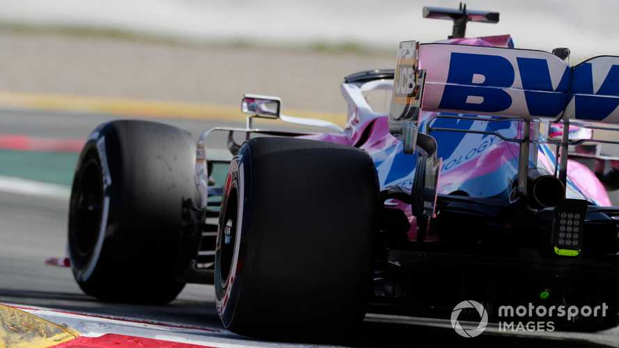 Lance Stroll at Barcelona Feb 2020 testing
