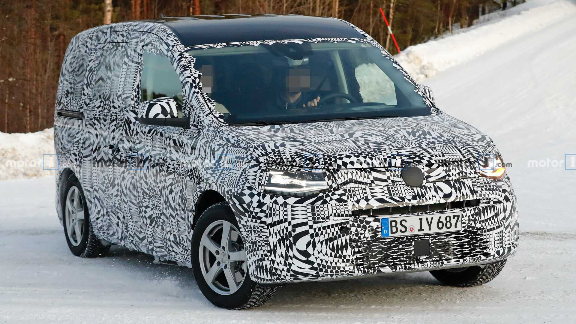 2021 VW Caddy spy video is a reality check about the van's styling