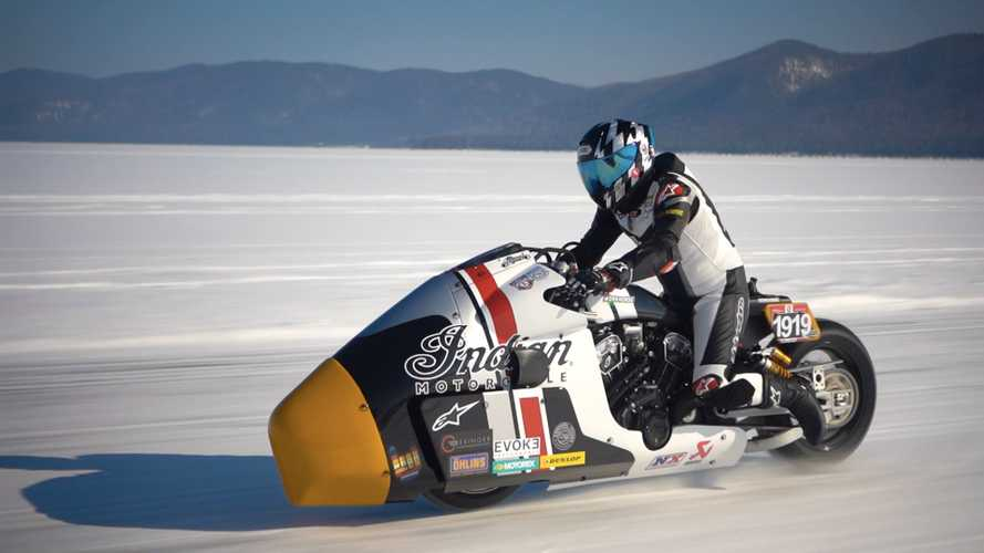 Watch Indian's Insane Appaloosa Ice Racer Sprint Into Action