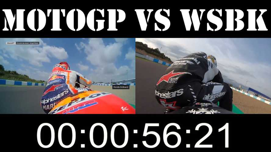 MotoGP Vs. WSBK: Watch Márquez And Rea Do A Hot Lap