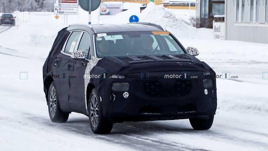 Hyundai Santa Fe 2021 - Novos flagras