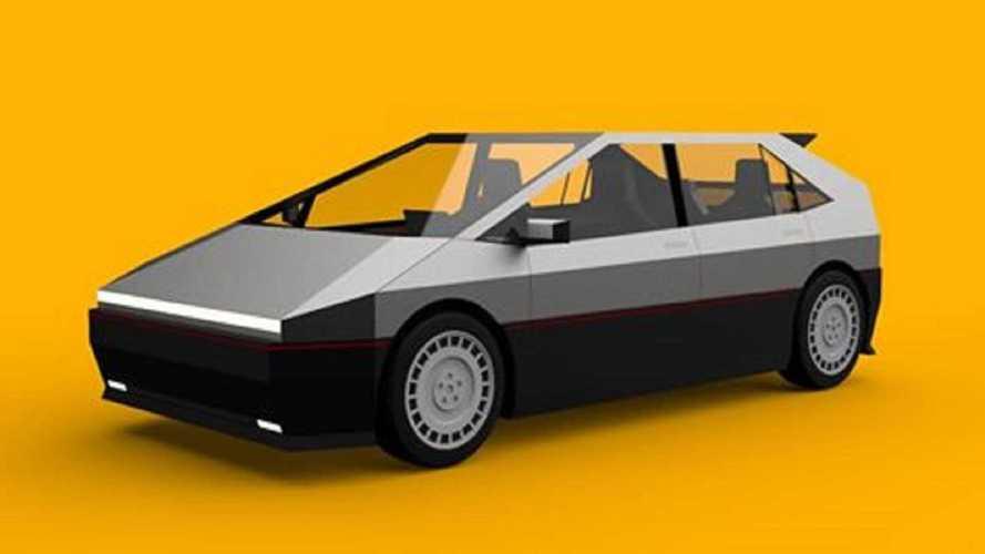 Tesla Pickup Truck Design Inspires This Edgy Cyber Hatchback