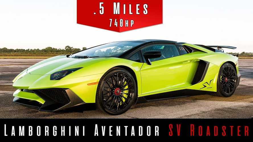 Watch Lamborghini Aventador SV Roadster hit 160 mph in half mile