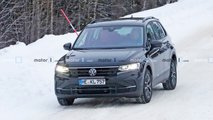 2021 VW Tiguan facelift spy photos