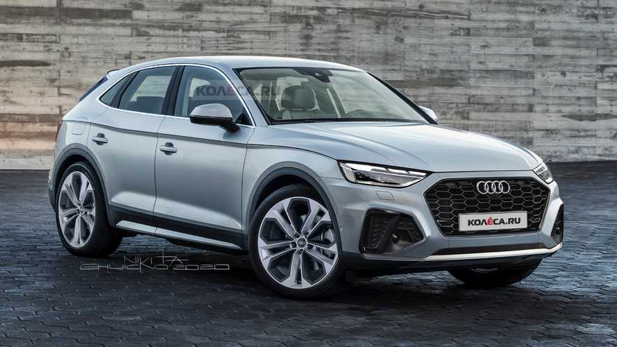 2021 Audi Q5 Sportback Rendering Tries To Preview The BMW X4 Rival