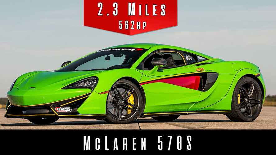 Watch McLaren 570S Take 2.3 Miles To Hit Its Top Speed