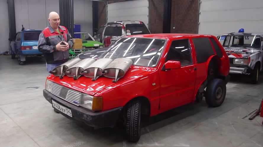 Fiat Uno With Four Mufflers By Garage 54