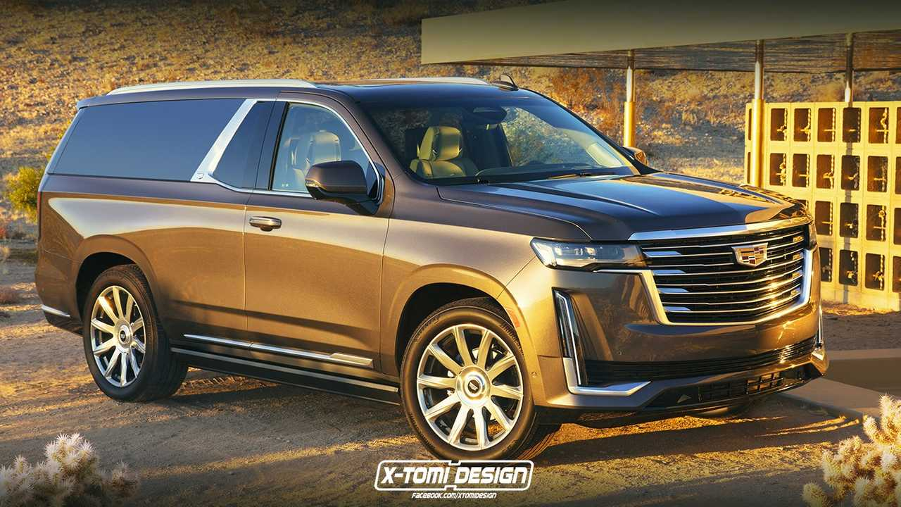 Cadillac Escalade Two-Door Rendering Is The Impractical SUV We Need - Motor1