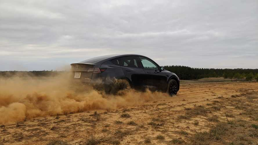 Model Y In The Dirt