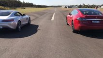 Tesla Mercedes Drag Race