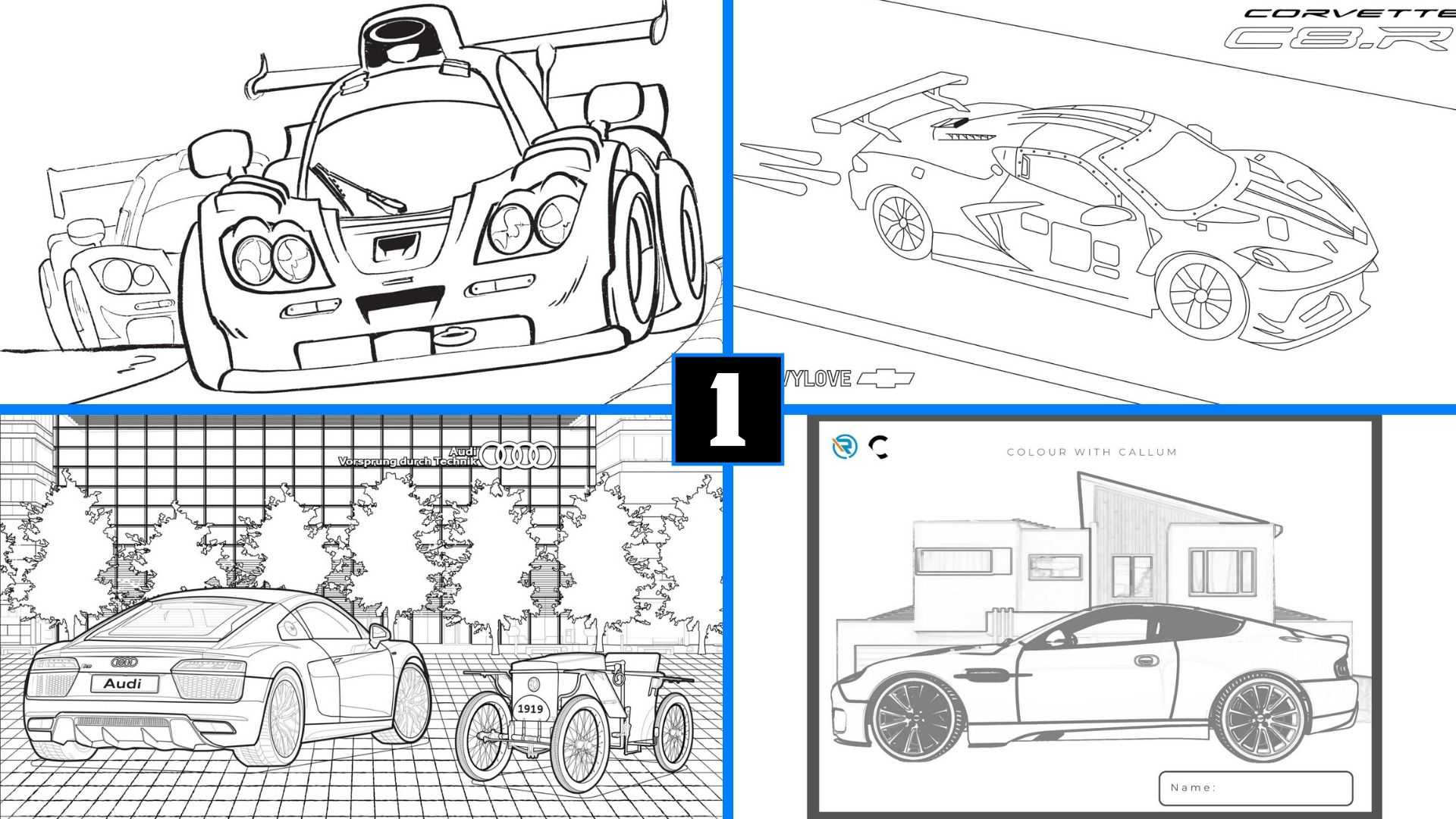 Here Are Car-Themed Coloring Pages To Keep You And The Kids Busy