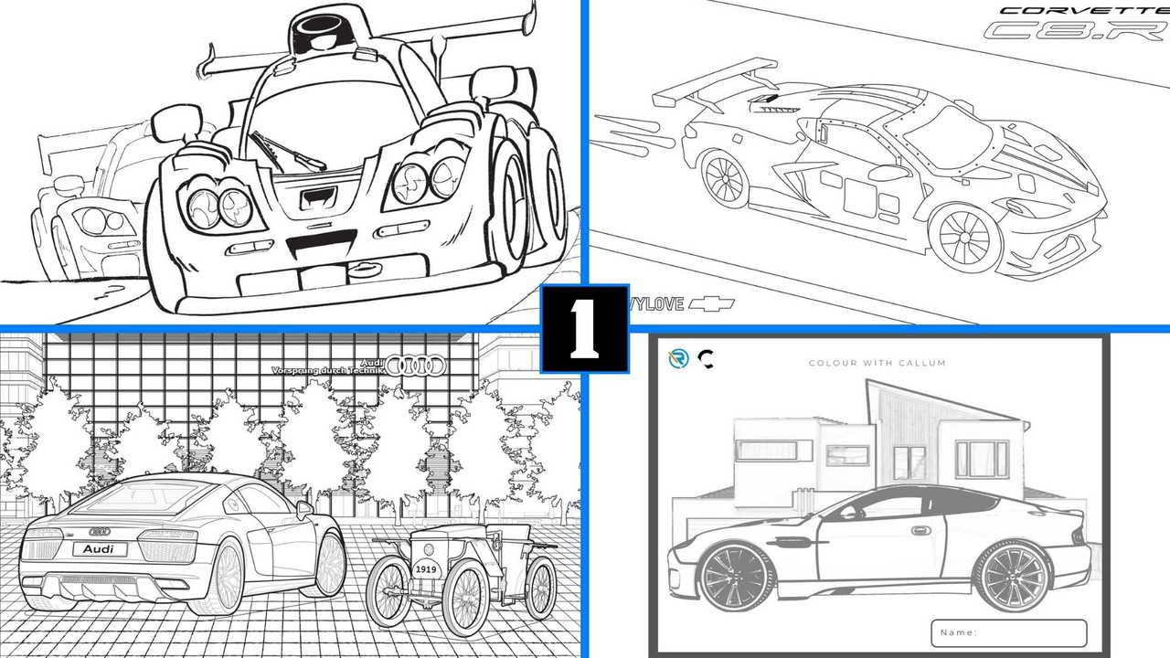 Aquí hay páginas para colorear con temas de automóviles para mantenerlo ocupado a usted y a los niños 71