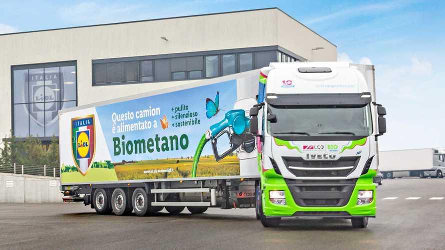 Iveco e Lidl insieme per il trasporto con camion a biometano