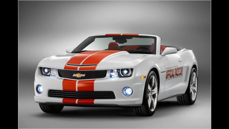 Chevrolet Camaro Convertible als Pace Car bei den Indy 500