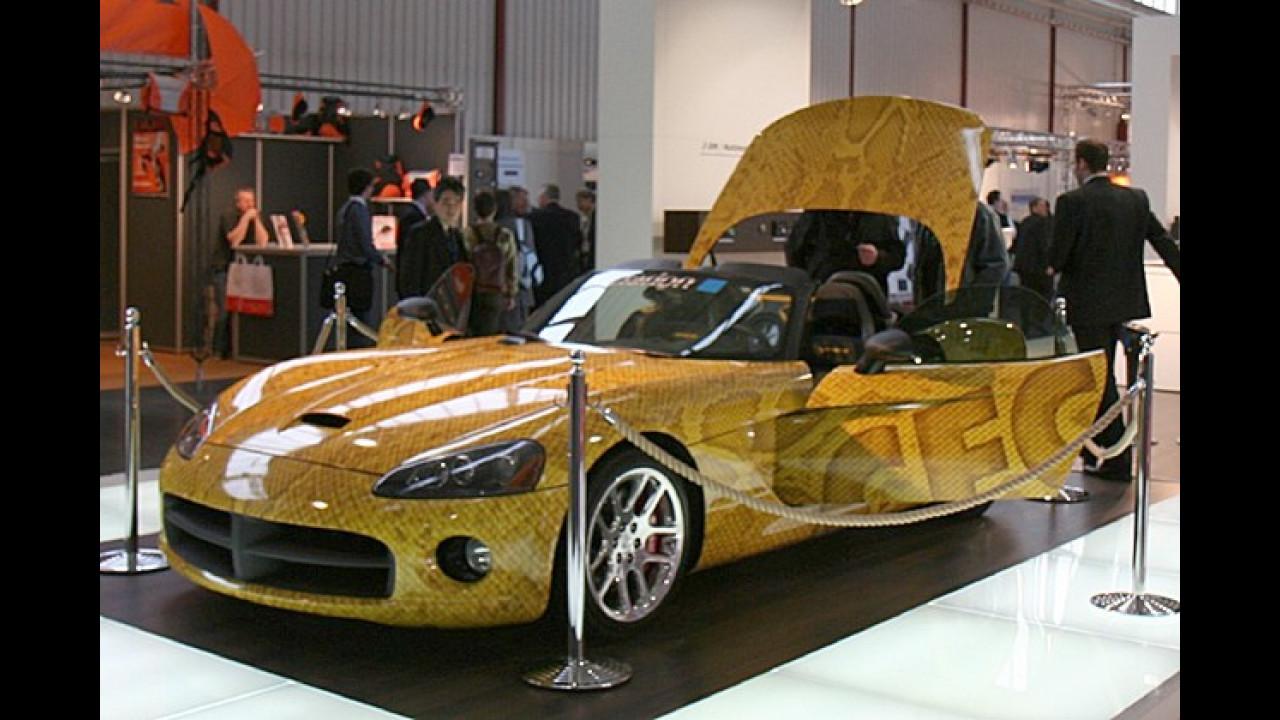 Eine Dodge Viper hat sich Clarion für Show-Zwecke umgebaut