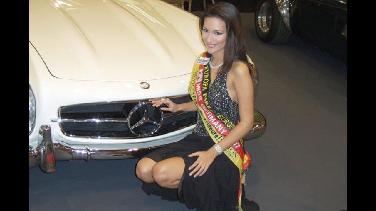 Zwei schöne Sterne in Essen: Ein SL und die Miss Germany 2007