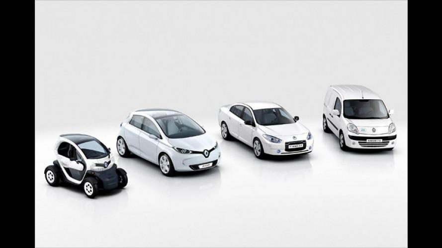 Renault baut Elektroautos Fluence, Kangoo Z.E. und Twizy in Großserie