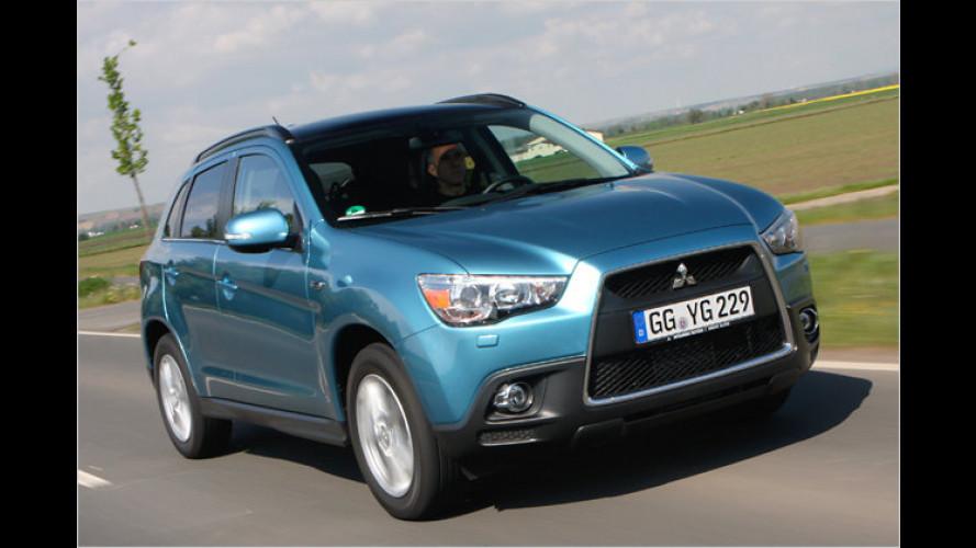 Nüchtern, sparsam & günstig: Mitsubishi ASX (2010) im Kurztest