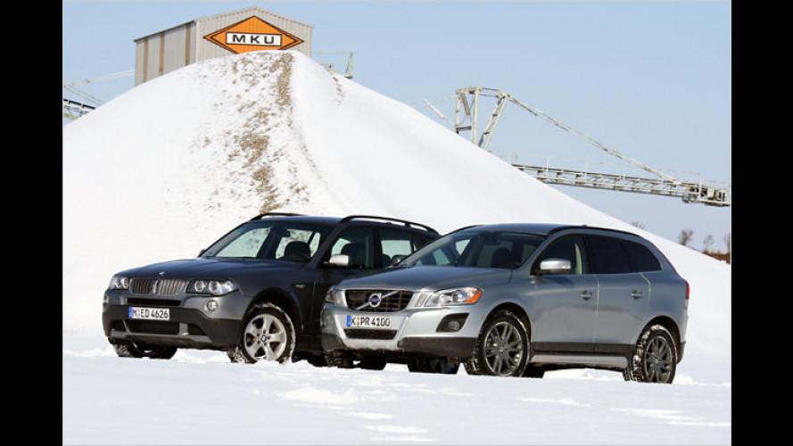 Alt gegen neu: BMW X3 gegen den Volvo XC60 im Vergleich