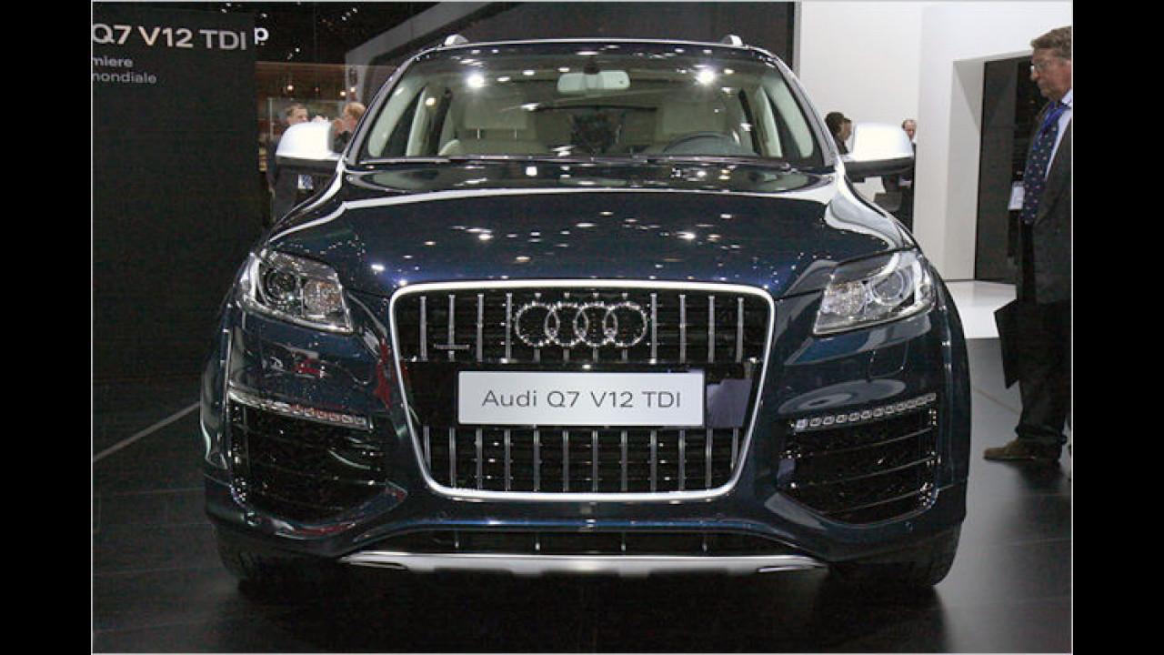 Der in Genf gezeigte Audi Q7 V12 TDI macht einen seriennahen Eindruck