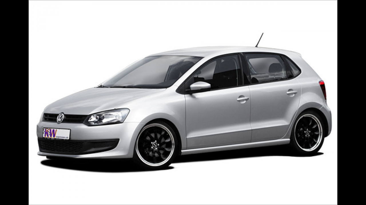 Tiefer gelegter VW Polo