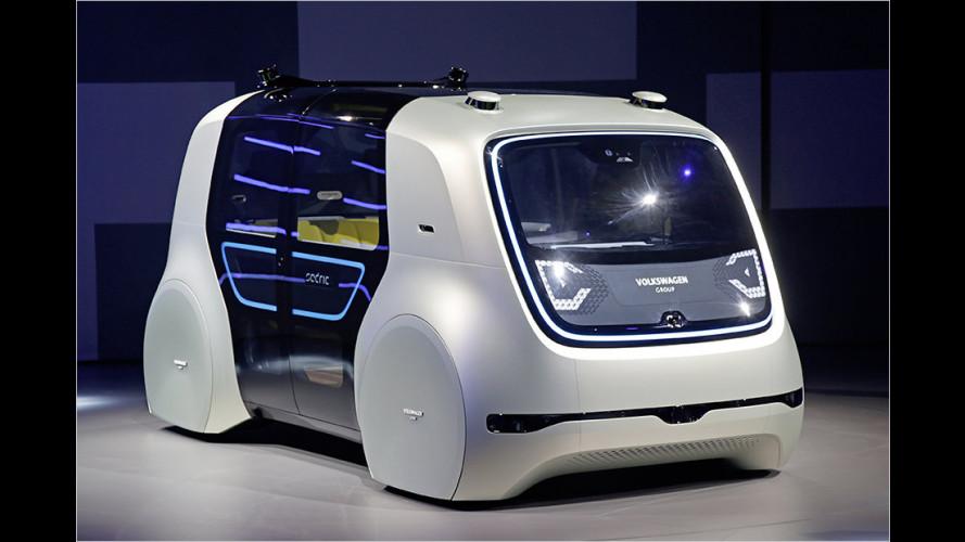 Autonome Fahrzeugstudie: VW Sedric auf dem Genfer Autosalon 2017