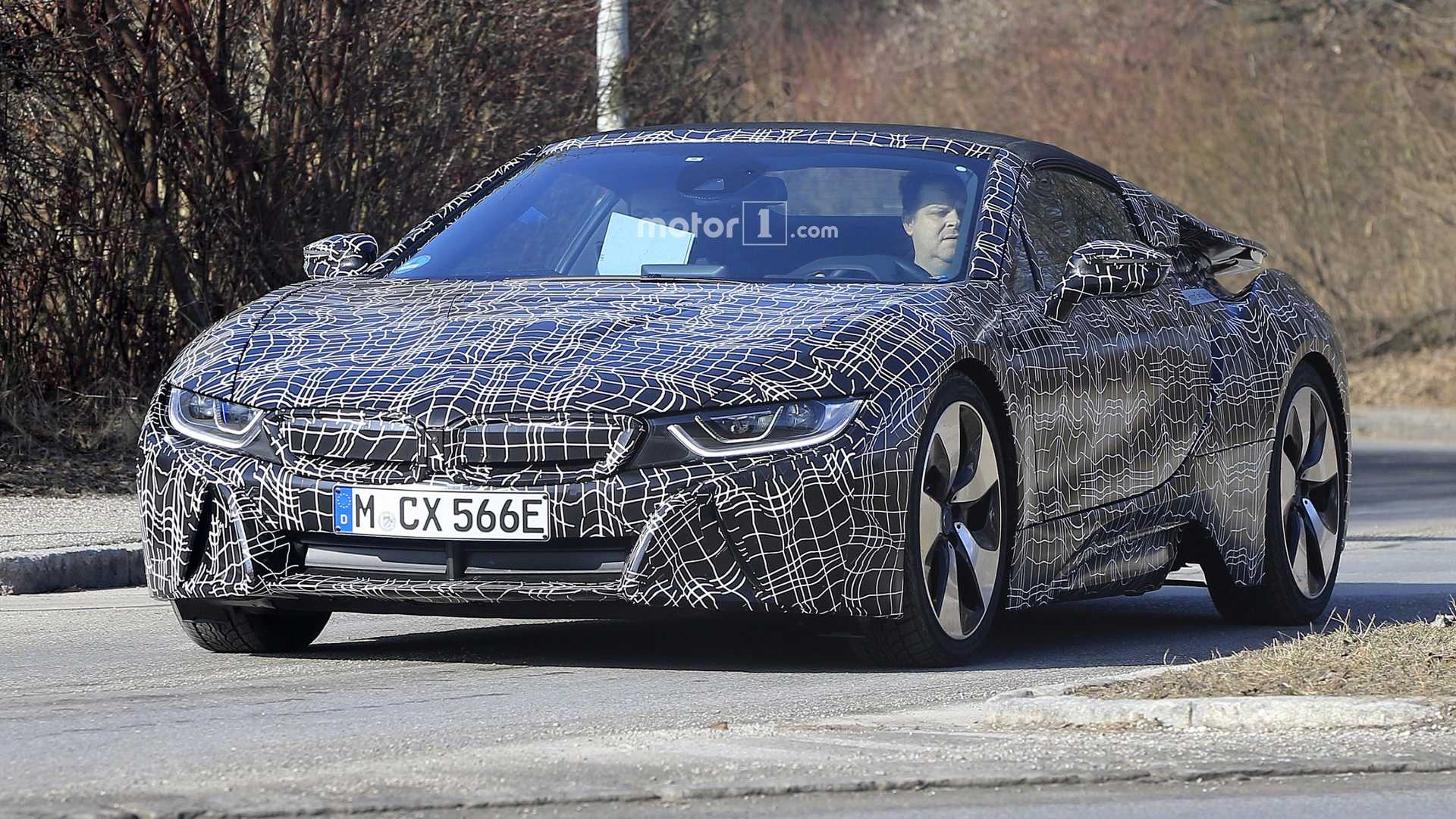 Bmw I8 Roadster Reveals Soft Top New Headlights In Teaser Video