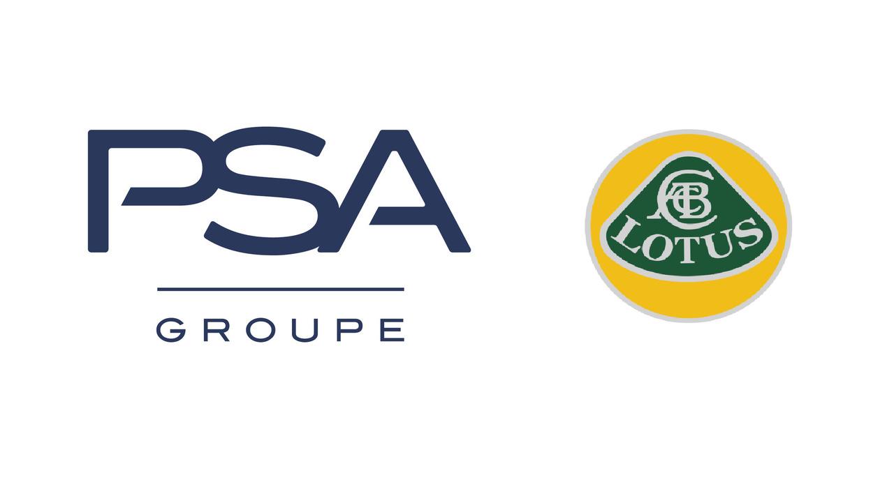 PSA Group and Lotus logos