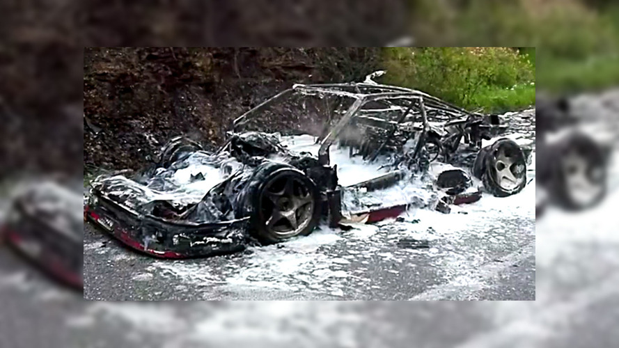 Ferrari F40 Prototype Burnt To A Crisp