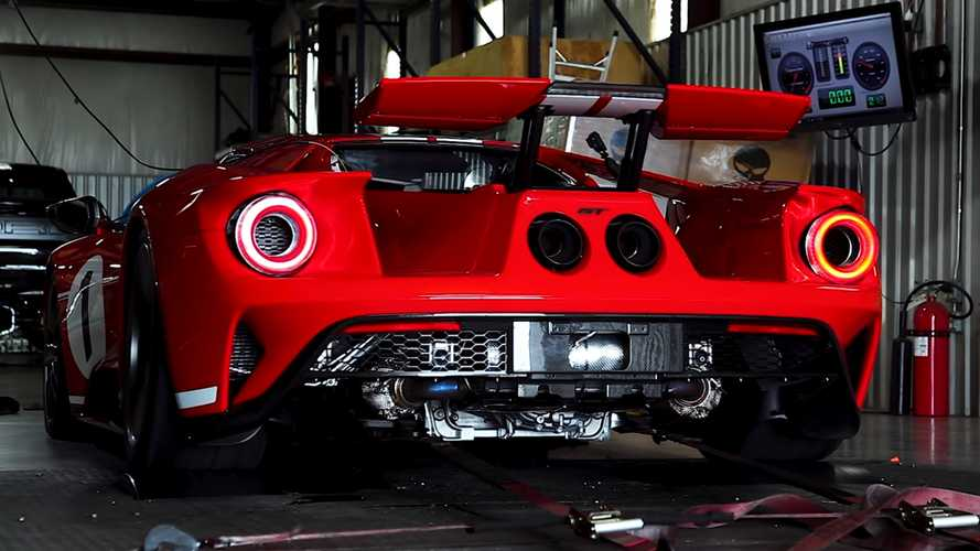 Ford GT Heritage Edition Dyno Test Reveals 581 Rear-Wheel HP