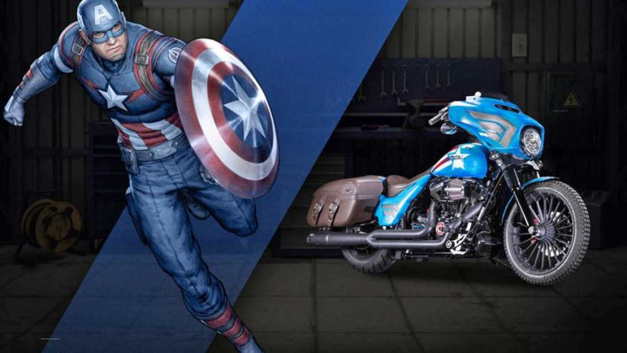 "Captain America - Harley-Davidson Street Glide Special ""Freedom"""