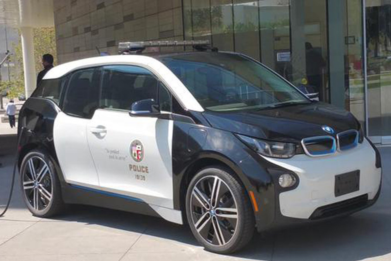 The Lapd Adds A Bmw I3 Tesla P85d To Its Police Car Fleet