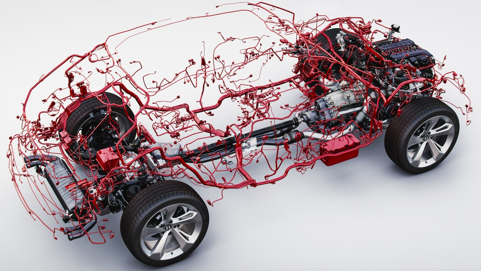 bentley bentayga wiring harness is weirdly beautiful custom car wiring harness  motor1.com
