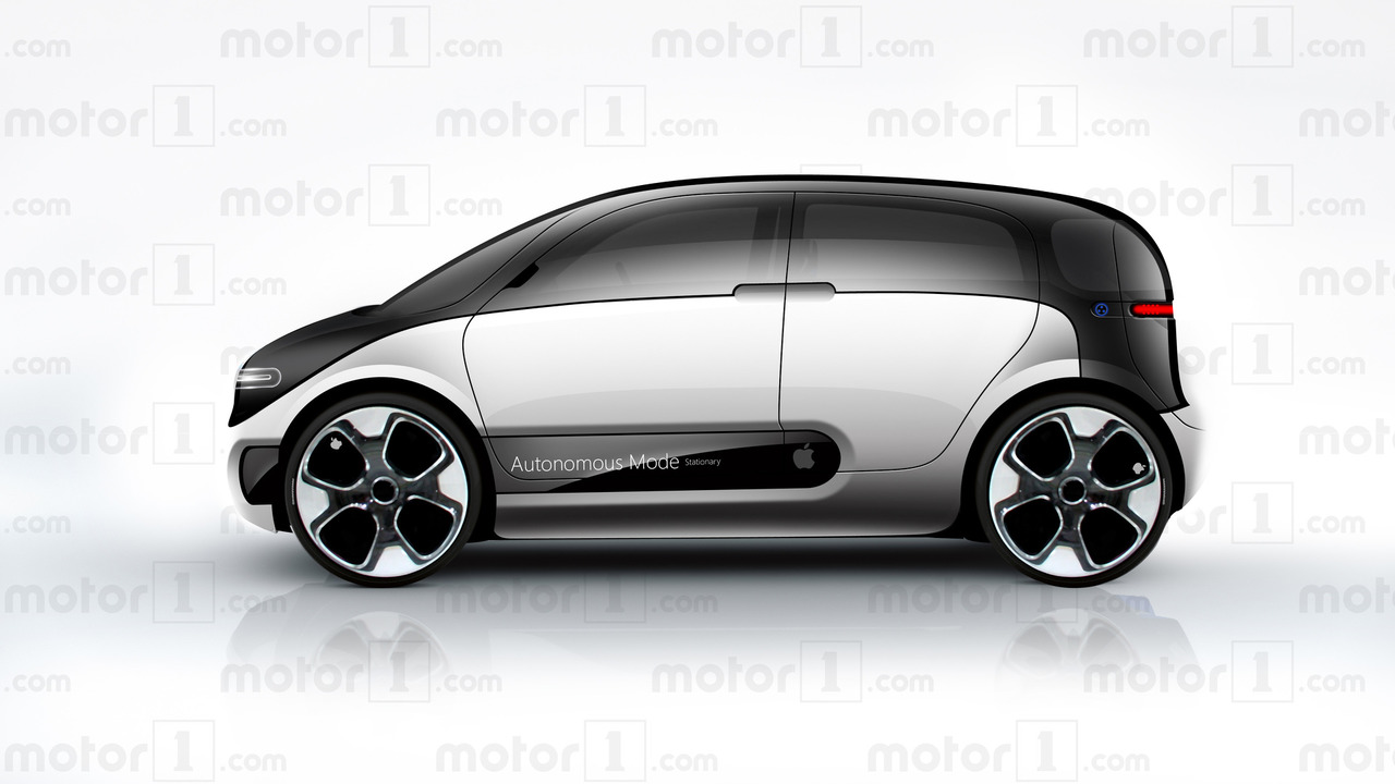Rendering on the Apple Car on Motor 1