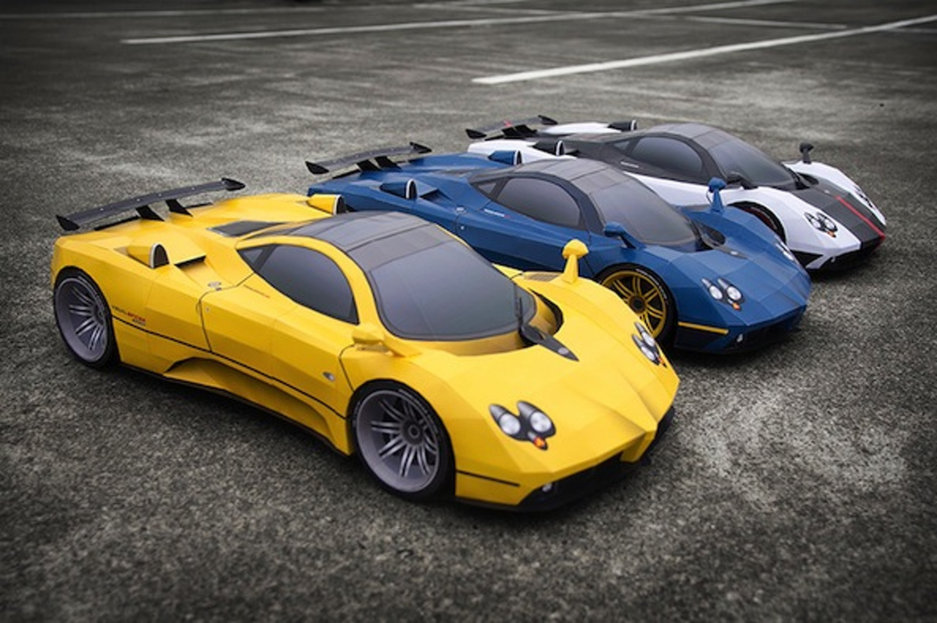 Paper Wizard Creates Trio of Pagani Zondas