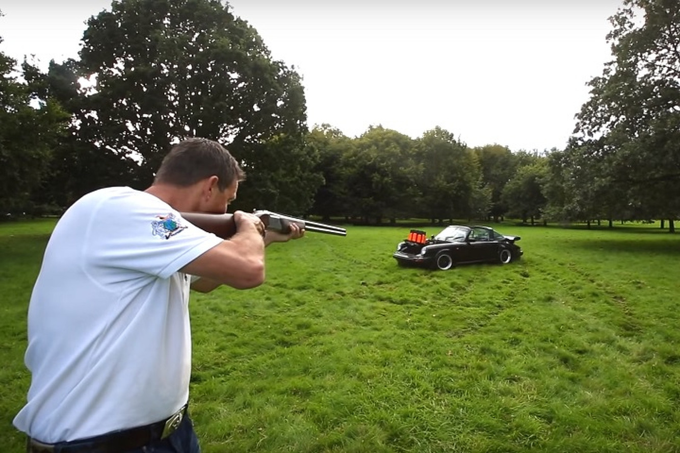 Watch a Marksman Shoot From a Vintage Porsche 911