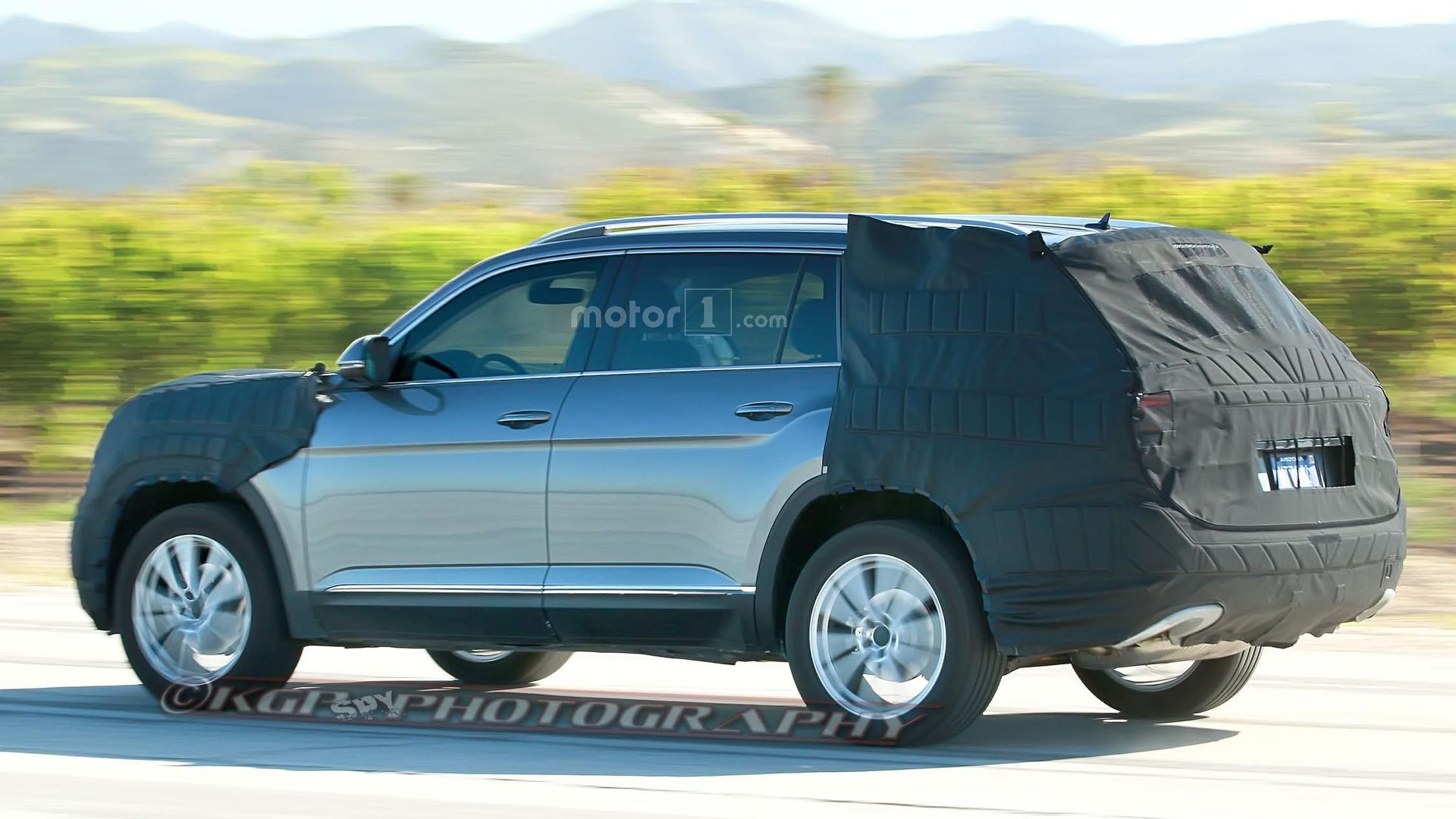 Upcoming Vw Three Row Suv Spied In Arizona