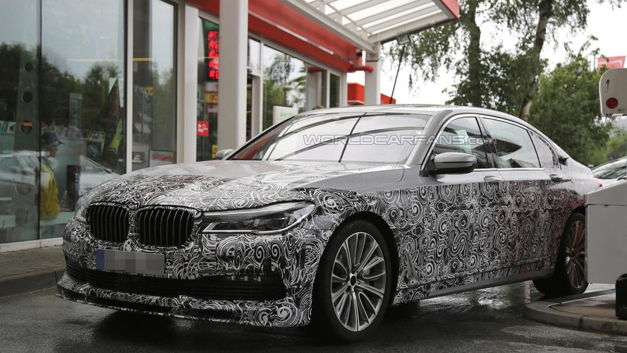 Next generation Alpina B7 spied at a gas station