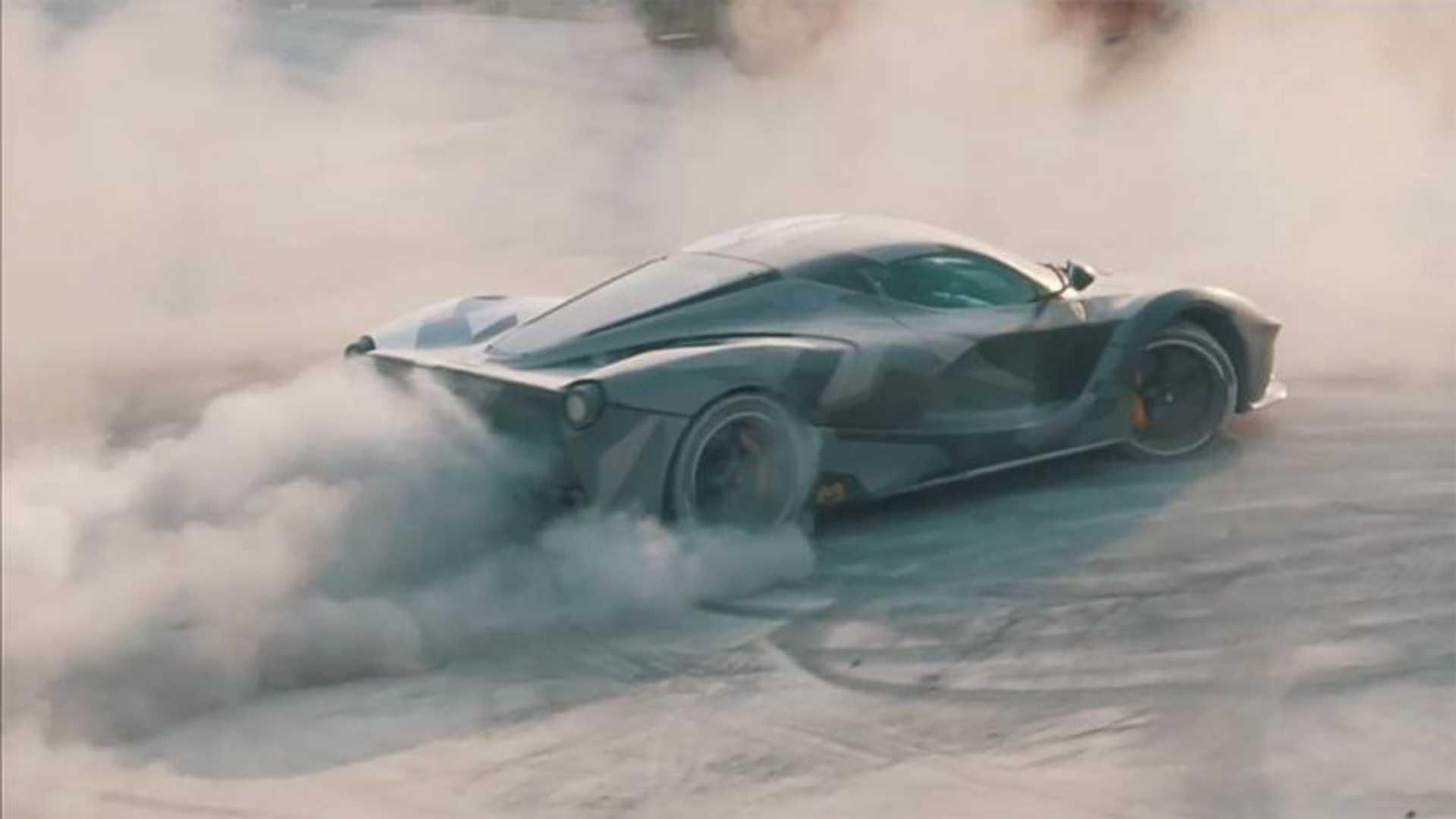 Watch This Ferrari Laferrari Drift Around A Dirty Factory