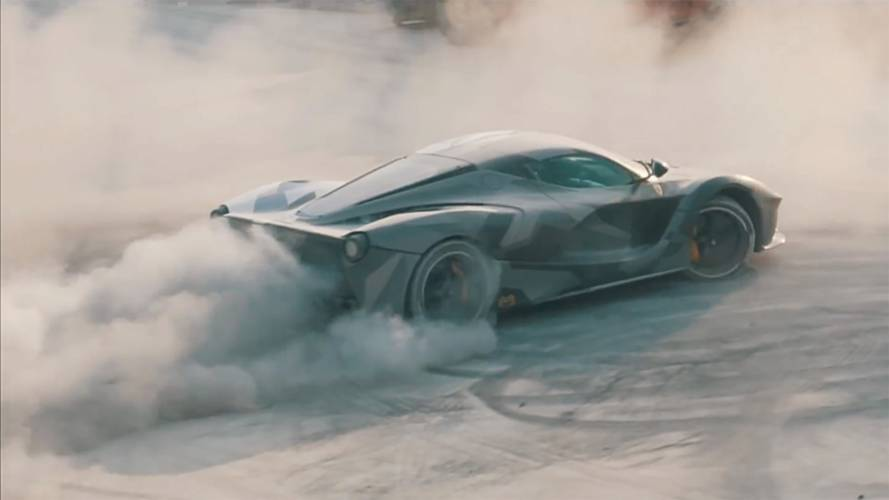 Watch This Ferrari LaFerrari Drift Around A Dirty Factory