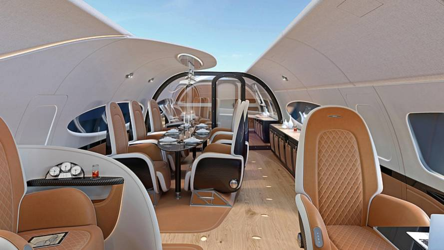 This is what happens when Pagani designs your airplane cabin