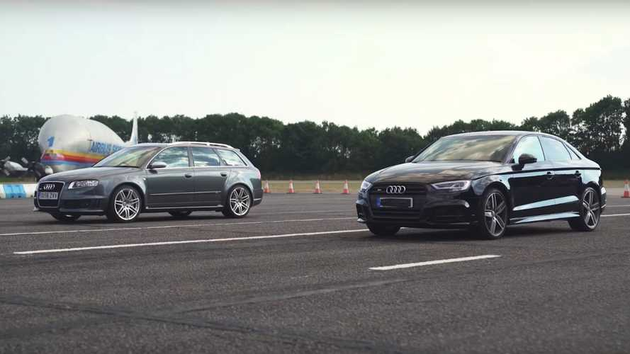 Audi S3 saloon vs. older RS4 drag race begs the question